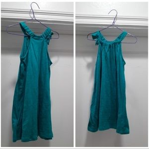 Toddler dress in turquoise.